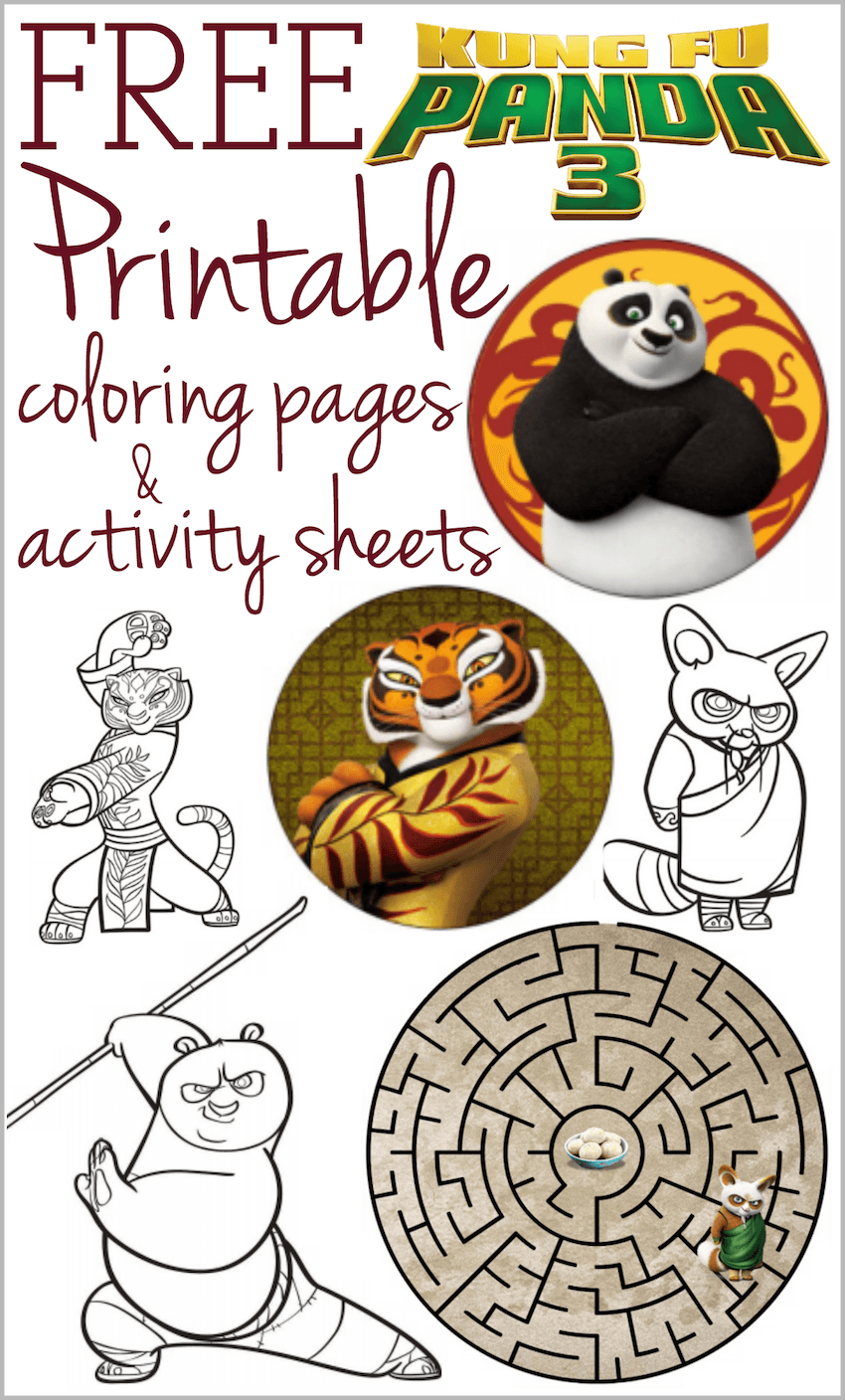 Printable coloring pages kung fu panda - Kung Fu Panda 3 Printable Coloring Pages