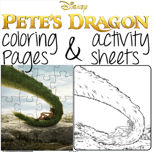 Printable Petes Dragon Coloring Pages And Activity Sheets