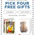 Shutterfly Promo Code: 4 FREE 8×10 Art Prints or 4 FREE Magnets!