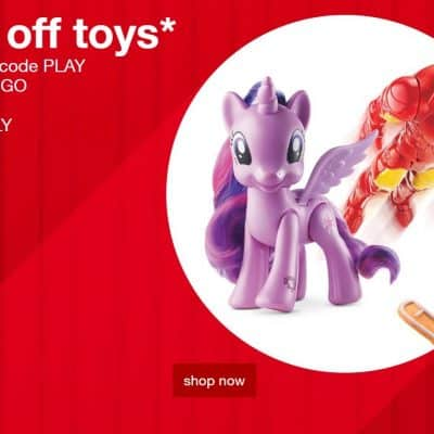 Target Online Deal: 30% off Toys Today Only! PLUS 5% off with RedCard + FREE Shipping!