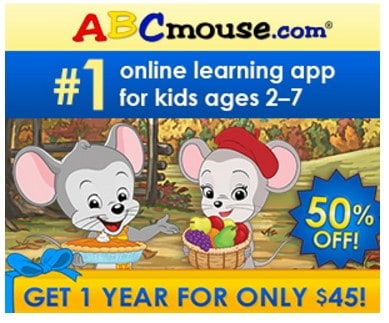 ABC Mouse Black Friday Sale: Save 50% on One Year Subscription to ABC Mouse!