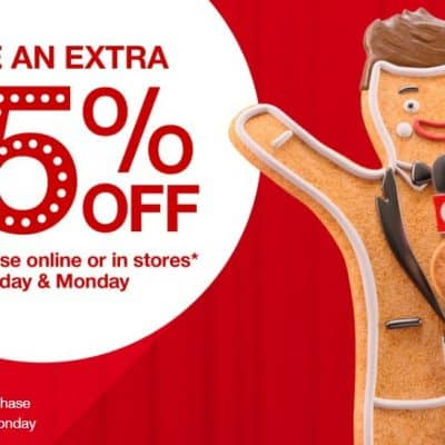 Target Online Deal: Save an Extra 15% off Your Entire Purchase! PLUS 5% off with RedCard + FREE Shipping!