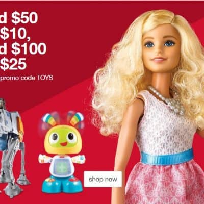 Target Online Deal: Save Up to $25 off Your Toy Purchase! PLUS 5% off with RedCard + FREE Shipping!