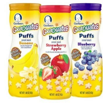 Gerber Graduates Puffs Cereal Snack 6 Count only $7.15 + Free Shipping!