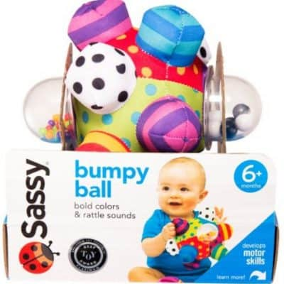 Save 59% on the Sassy Developmental Bumpy Ball, Free Shipping Eligible!