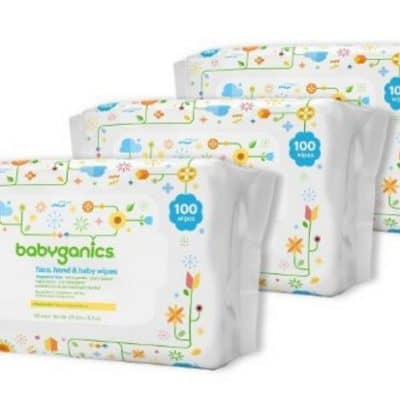 Babyganics Face, Hand & Baby Wipes, Fragrance Free, 300 Count only $7.39, Free Shipping Eligible!
