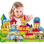 Save 40% on the City Building Blocks Wooden Stacking Set, Free Shipping Eligible!