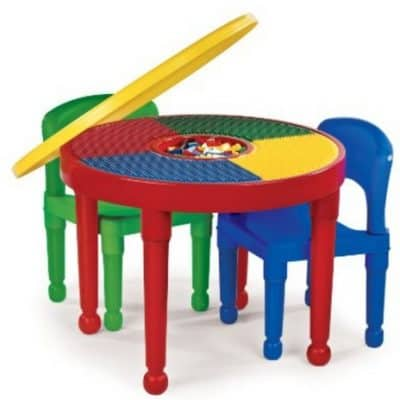 Save 43% on the Tot Tutors 2-in-1 Round Lego Table and 2 Chairs, Free Shipping Eligible!