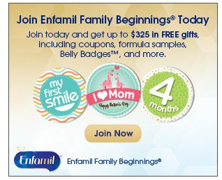 Up to $325 in Free Gifts (Coupons, Formula and More!) from Enfamil Family Beginnings!