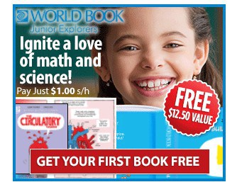 FREE World Book Junior Explorers Book {Just pay Shipping!)