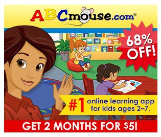 Get 2 Months of ABC Mouse for only $5!