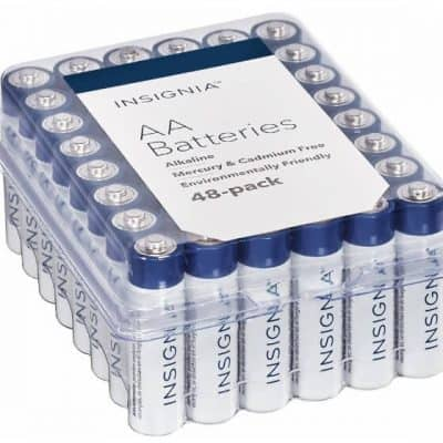 Best Buy Deal of the Day: AA or AAA Batteries (48-Pack) only $6.99, FREE Shipping Eligible!