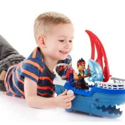 Save 64% on the Fisher-Price Disney Captain Jake and the Never Land Pirates Shark Strike Sea Ship, Free Shipping Eligible!