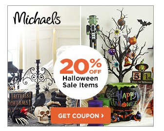 Michaels 20% off Coupon for Halloween Items!
