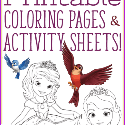 Sofia the First Coloring Pages for Sofia the First: The Secret Library!