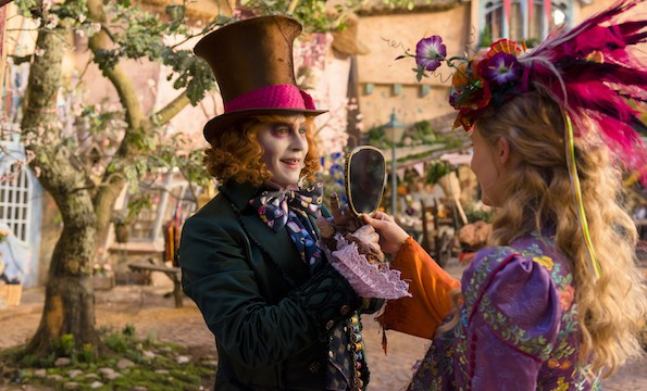 alice through the looking glass alice hatter johnny depp mia wasikowska