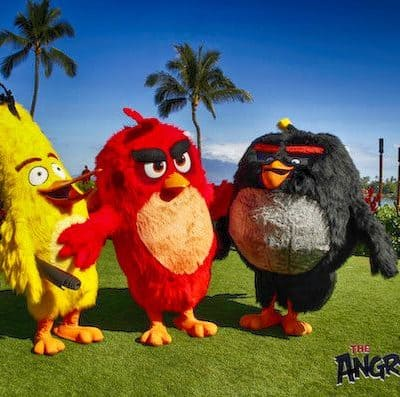 Yoga at The Four Seasons in Hawaii with Angry Birds