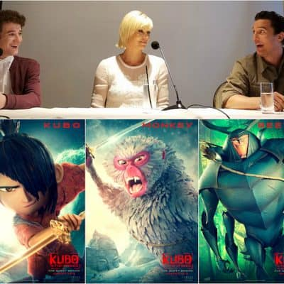 Interviewing Charlize Theron, Matthew McConaughey, Art Parkinson for KUBO AND THE TWO STRINGS #KuboMovie