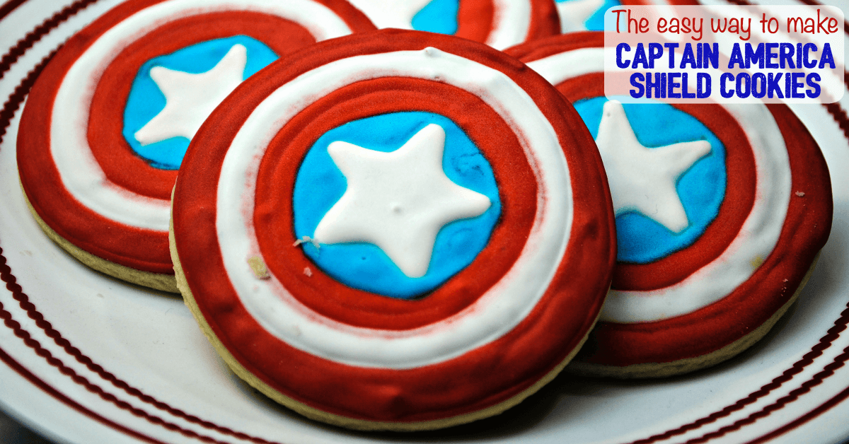 captain america shield cookies easy
