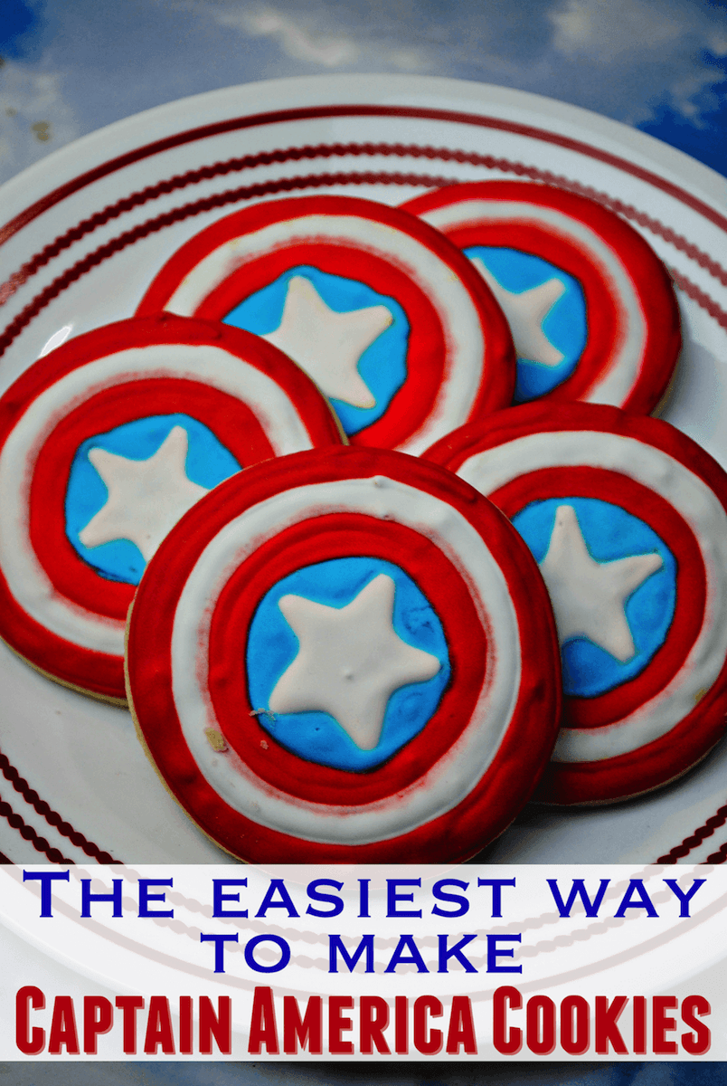Captain America Shield cookies recipe