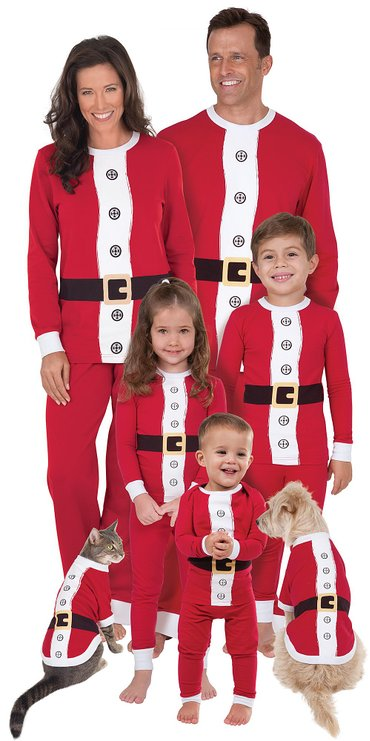 santa christmas family pajamas