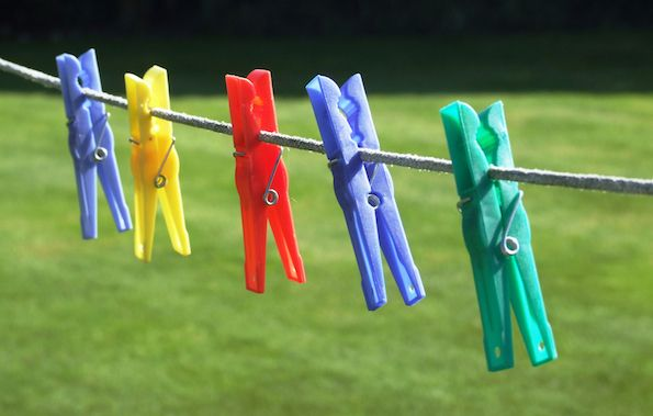 get soft clothes while line drying