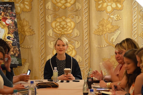 Disney press trip blogger mia wasikowska interview