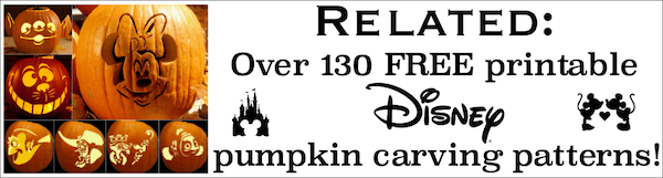 Disney pumpkin patterns