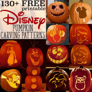 Free Disney Pumpkin Stencils: Over 130 Printable Pumpkin Carving Patterns