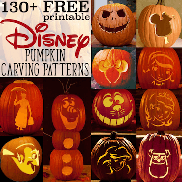 Free Disney Pumpkin Stencils: Over 130 Printable Pumpkin Carving Patterns!