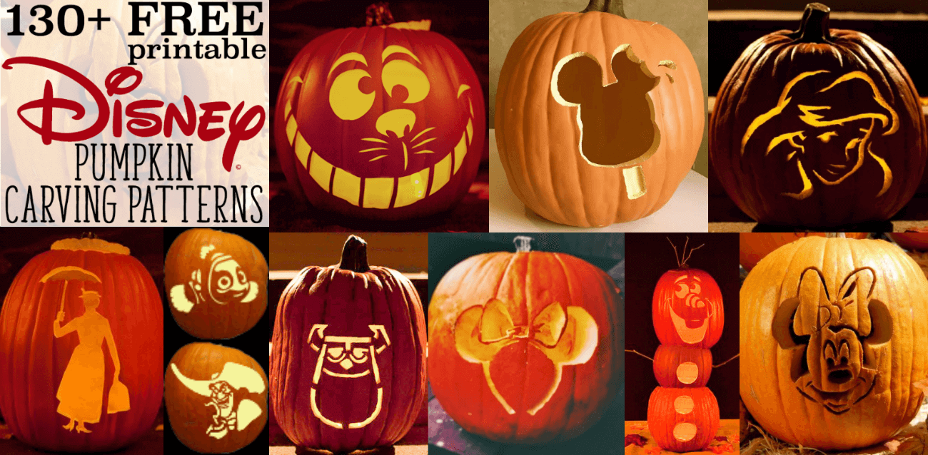 Disney Pumpkin Stencils: Over 130 Printable Pumpkin Patterns