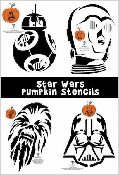 Witty image with star wars stencils printable