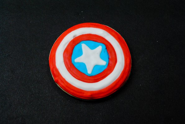 easy captain america shield cookies