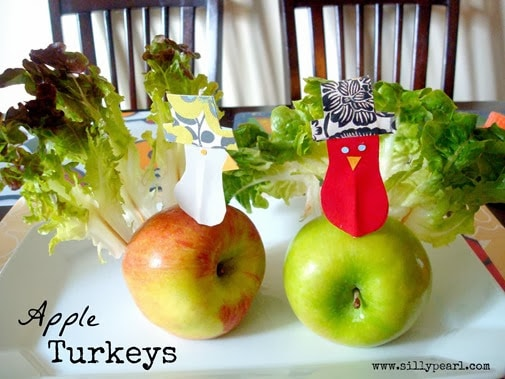 easy thanksgiving crafts apple turkey