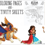 Elena of Avalor Printable Coloring Pages and Activity Sheets