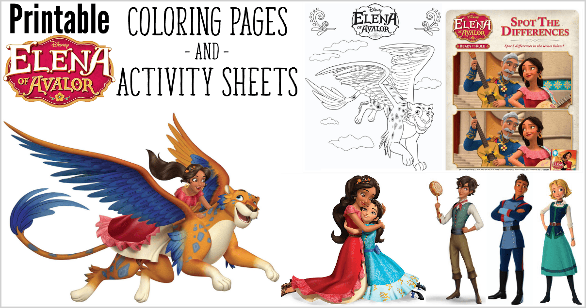 Elena Of Avalor Coloring Pages And Activity Sheets