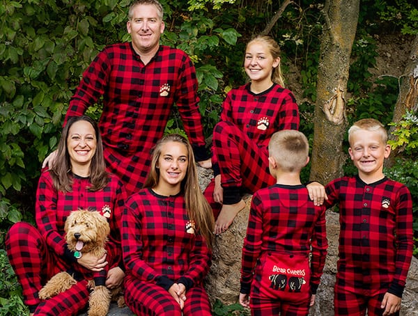 c7846e9576b bear plaid printed family christmas pajama red dad l. family ...