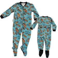 Lazy One Don't Moose Boys Footie Pajamas
