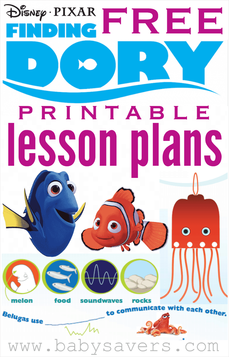 finding dory lesson plans