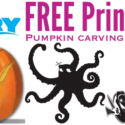 Finding Dory Pumpkin Carving Patterns and Stencils #FindingDoryBluray