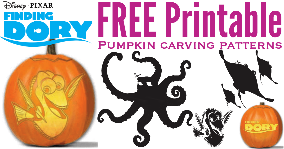 finding dory pumpkin carving patterns