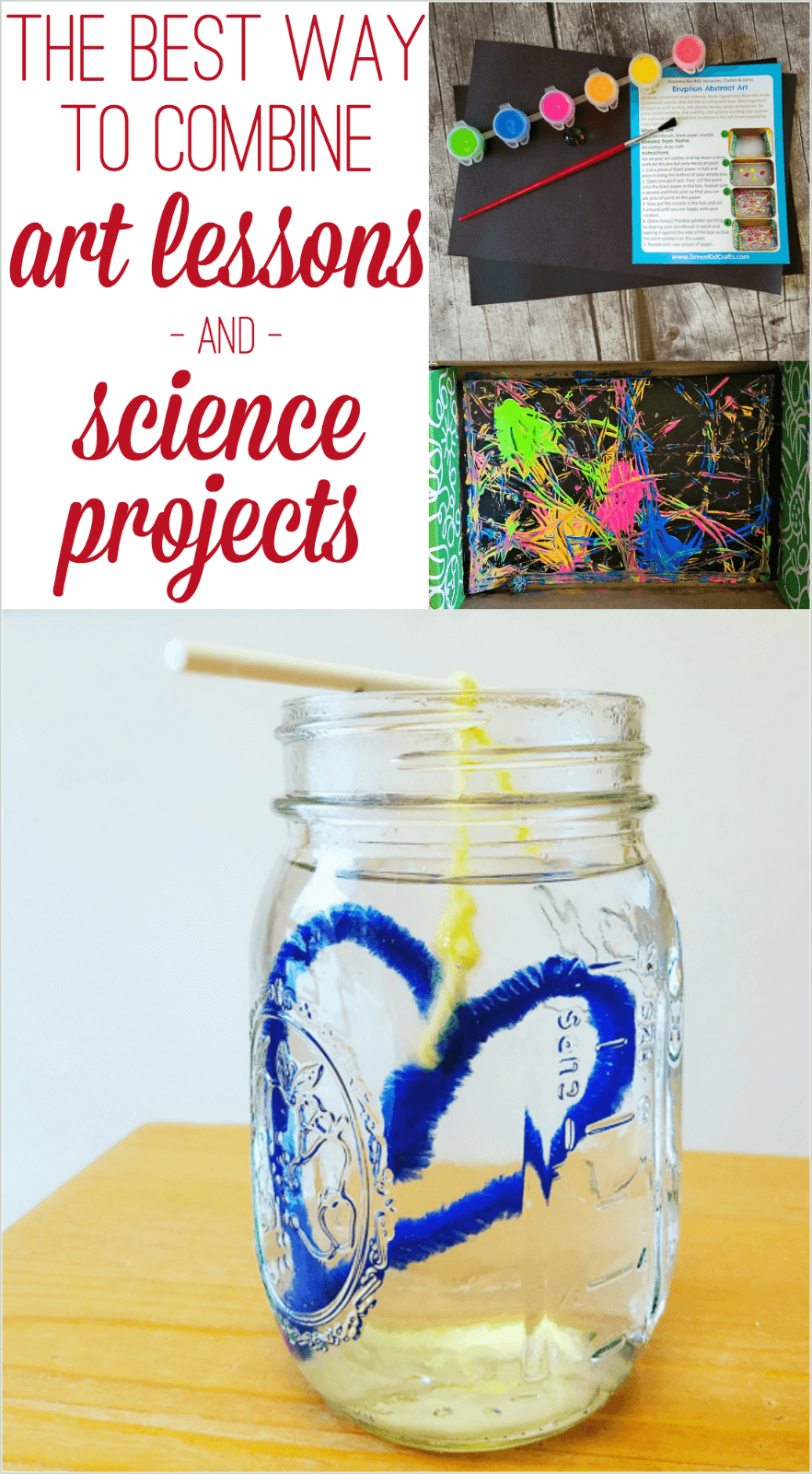 The best way to combine art lessons and science projects green kid crafts review
