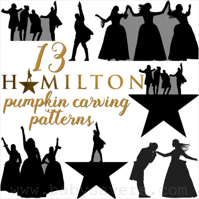 Hamilton musical pumpkin carving patterns
