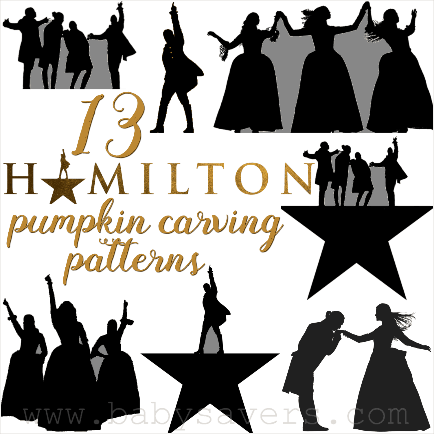 photograph about Pumpkin Outlines Printable known as 13 Hamilton Pumpkin Carving Designs and Printable Stencils