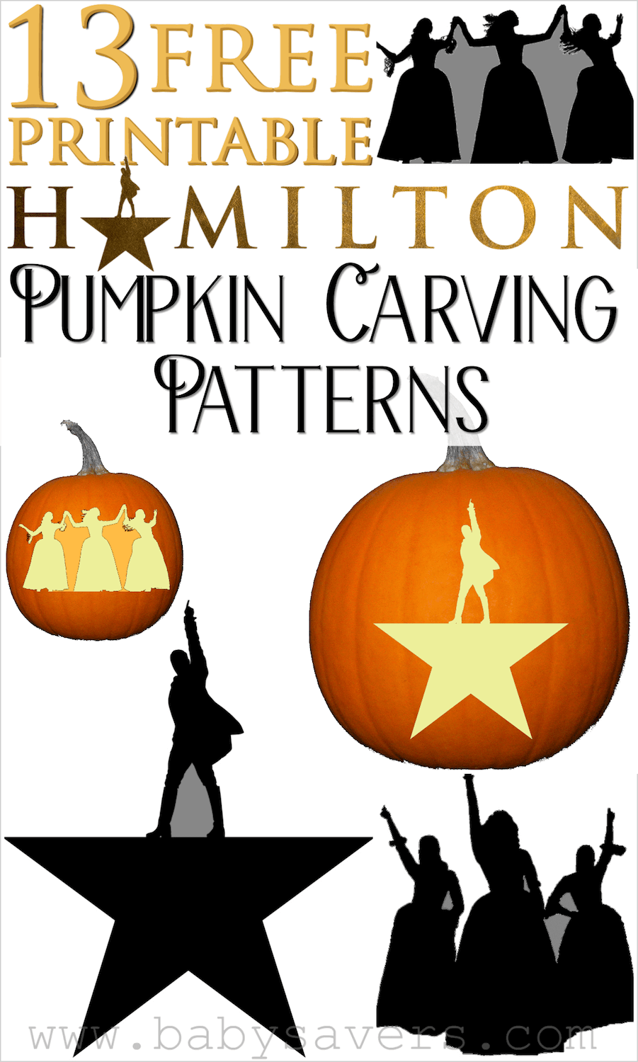 Hamilton pumpkin carving patterns