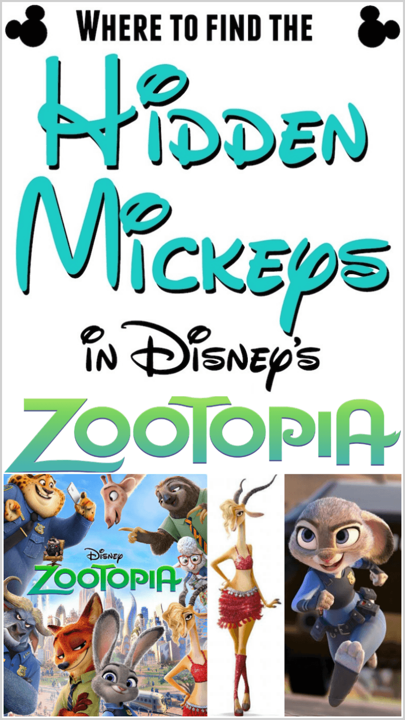 hidden mickeys in zootopia