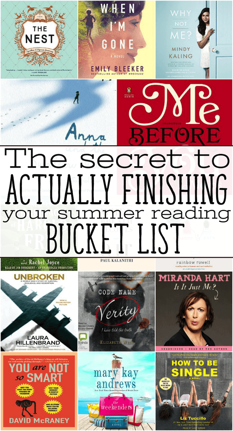 how to finish your summer reading bucket list