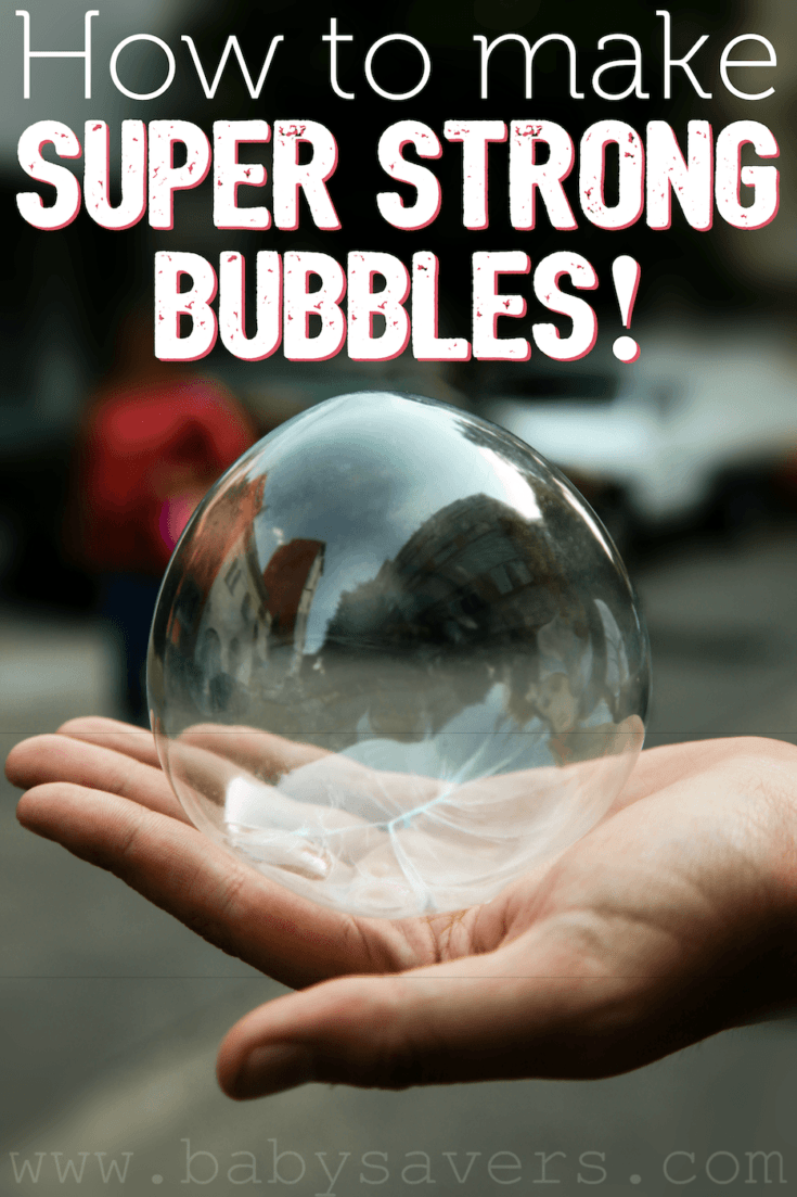 How to make a super strong bubbles recipe with simple ingredients | homemade bubbles that don't pop | DIY bubble solution for awesome bubbles that bounce | unbreakable bubbles made with glycerin, Dawn, corn syrup | fun for kids