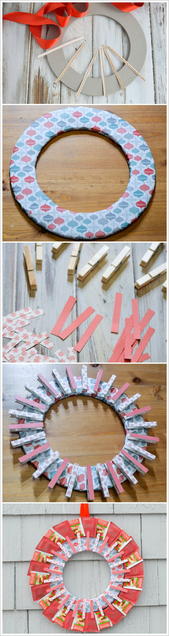 diy tea bag wreath tutorial