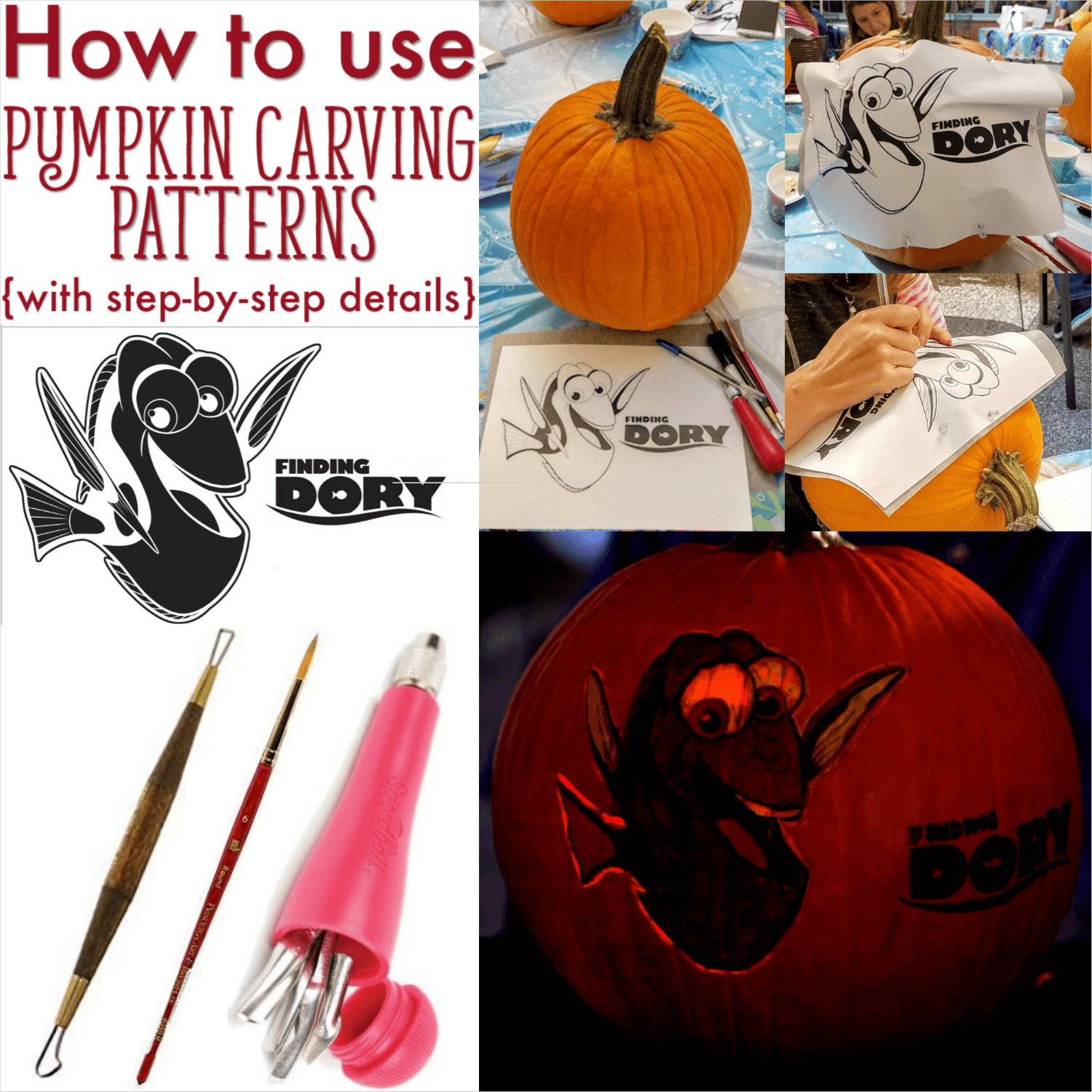 how to use pumpkin carving patterns